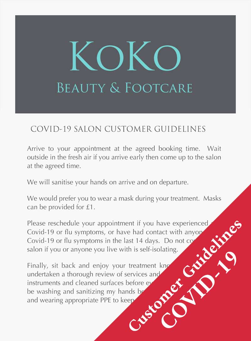 KoKo Canterbury Covid-19 Salon Customer Guidelines pdf